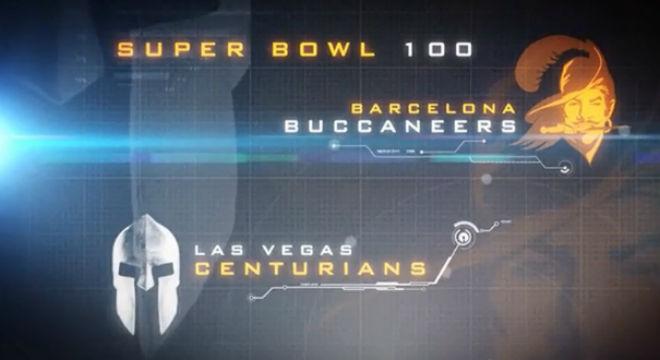 'Imaginando el f�tbol del futuro a trav�s de laSuper Bowl of 2066'.