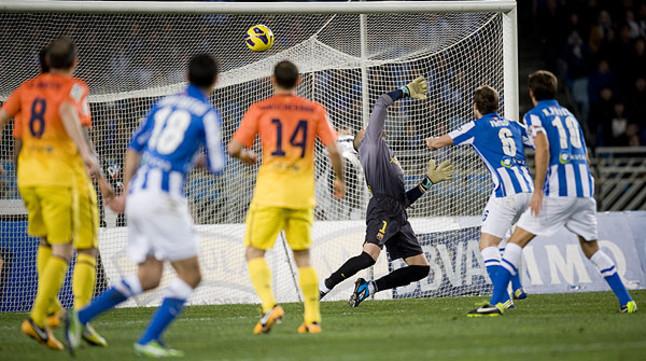 El Bar�a pierde en el �ltimo minuto ante una ambiciosa Real Sociedad (3-2)