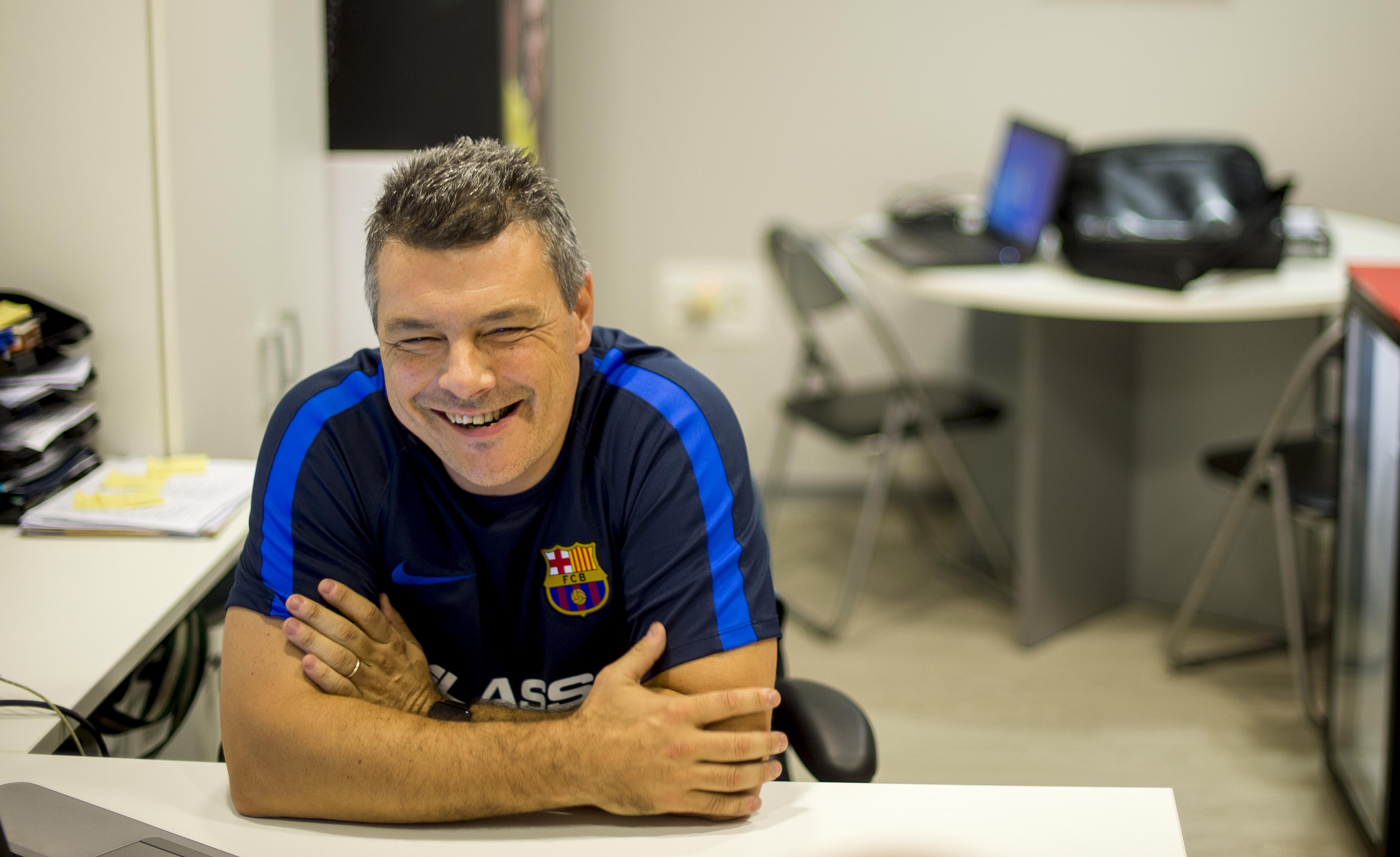 Xavi Pascual, entrenador del Bar�a de balonmano, 3876961 3877050 OK
