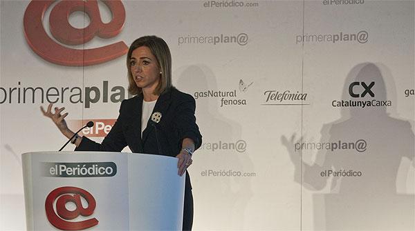 Carme Chacón, en el fòrum Primera Plana.