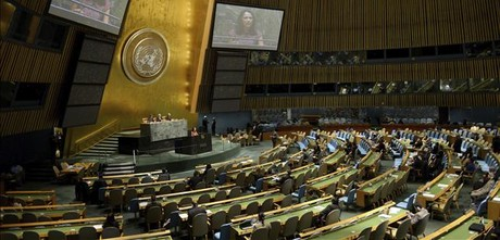 Sesión de la Asamblea General de la ONU, el 20 de febrero en Nueva York.