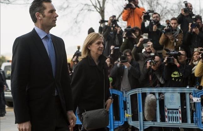 Iñaki Urdangarin y la infanta Cristina llegan, este martes, a la Audiencia de Palma para acudir al jucio del caso Nóos.