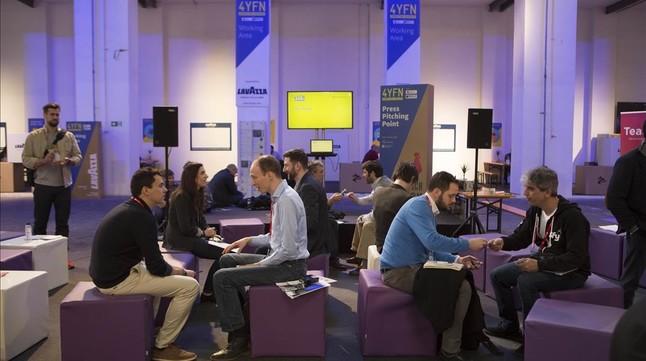 Encuentro entre emprendedores e inversores en el marco del 4YFN.