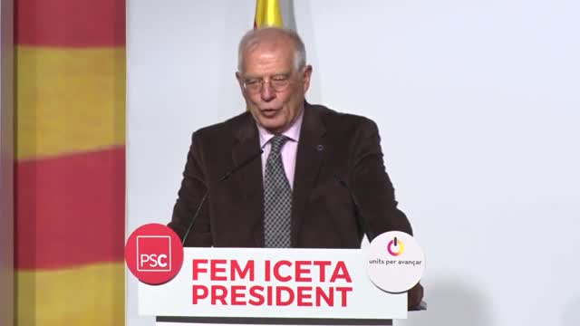 Declaraciones del exministro socialista Josep Borrell, en el acto de LHospitalet de LLobregat