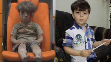 El nen d'Alep, icona del drama sirià, un any després