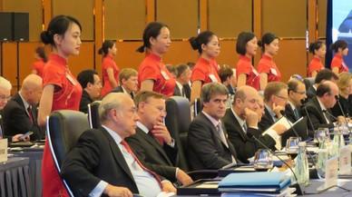 Cena de trabajo del G20, reunido este fin de semana en Chengdu, China.