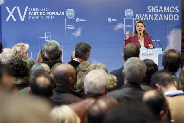 """Cospedal dice que el PP volver�n a revisar """"toda la gesti�n"""" del partido"""