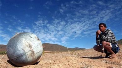Un fragmento de chatarra espacial caído en Suráfrica.