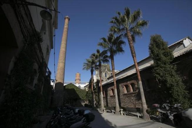 Interior del recinto del complejo cultural Palo Alto, donde un fin de semana al mes se celebra el 'market'.