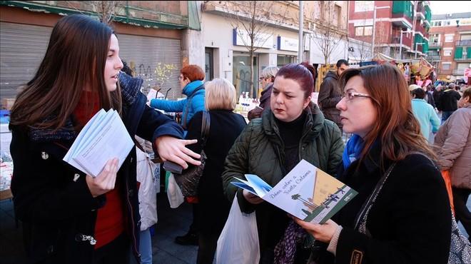 Santa Coloma peina las calles en busca de propuestas para la ciudad