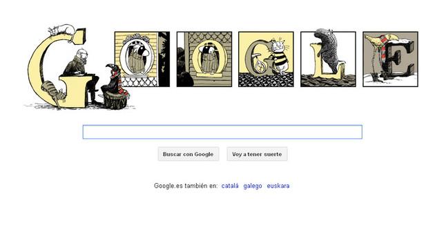 Google homenajea con un nuevo 'doodle' al ilustrador Edward Gorey