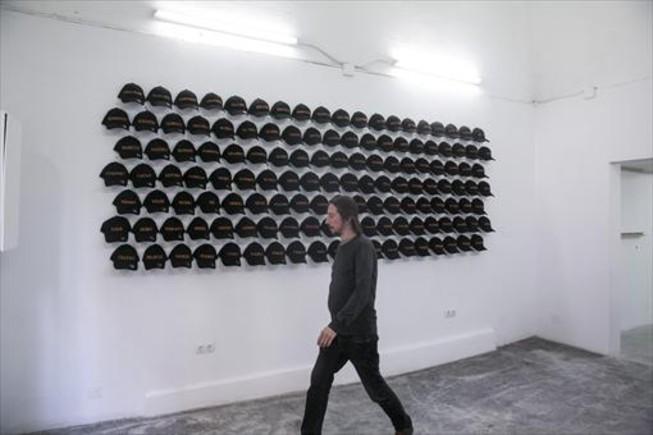 Una de las obrasde la primera muestra de Àcid Sulfúric es'EL FINALDE LA FOLOSOFÍA'