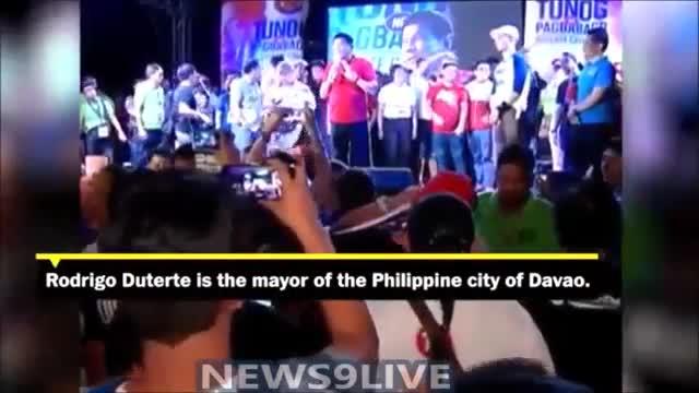 El candidat favorit a les presidencials de les Filipines es mofa de la violació d'una missionera