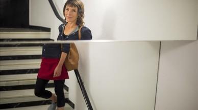 Rachel Cusk, en una imagen deconstruida en un doble espejo de un hotel de Barcelona.