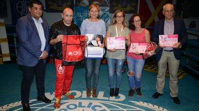 La boxa femenina de Rubí recapta 2.000 euros per la lluita contra el càncer