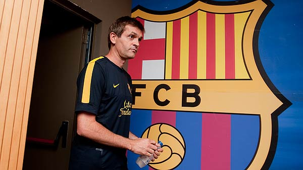Rueda de prensa de Tito Vilanova antes de la vuelta de la Supercopa