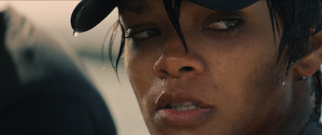 La cantante Rihanna, en un fotograma de la pelcula 'Battleship'.