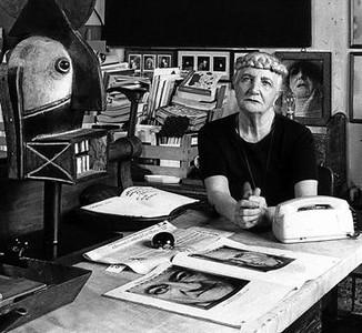 Carol Rama, en su casa-estudio de Tur�n.