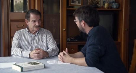 Gerardo Iglesias y Jordi �vole durante la entrevista.
