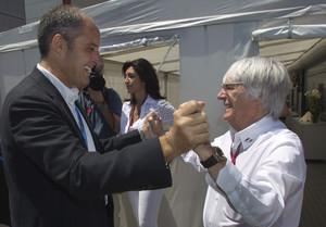 Bernie Ecclestone i Francisco Camps, en una foto darxiu