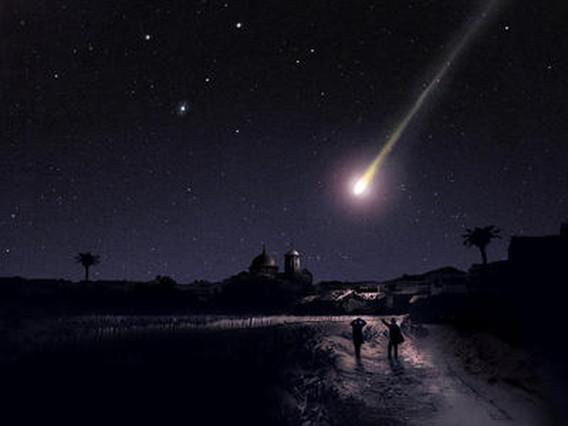Recreación del meteorito que supuestamente cayó en España, en 1866.
