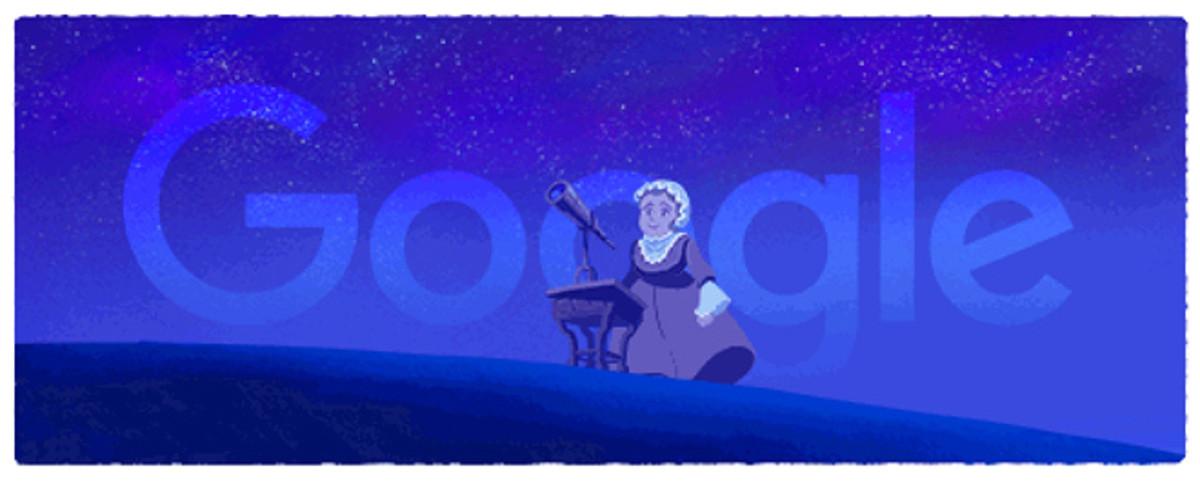 Caroline Herschel, la astrónoma alemana protagonista del último doodle de Google.