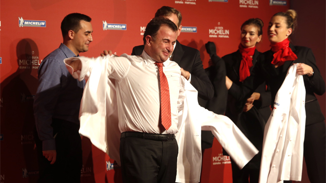 Lasarte, amb la firma de Martín Berasategui, es converteix en el primer restaurant de la capital catalana que aconsegueix tres estrelles Michelin