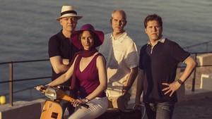 Vera Martínez, Abel Tomàs, Jonathan Brown y Arnau Tomàs, integrantes del Quartet Casals.