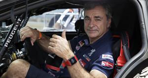 Carlos Sainz tras pasar las verificaciones.