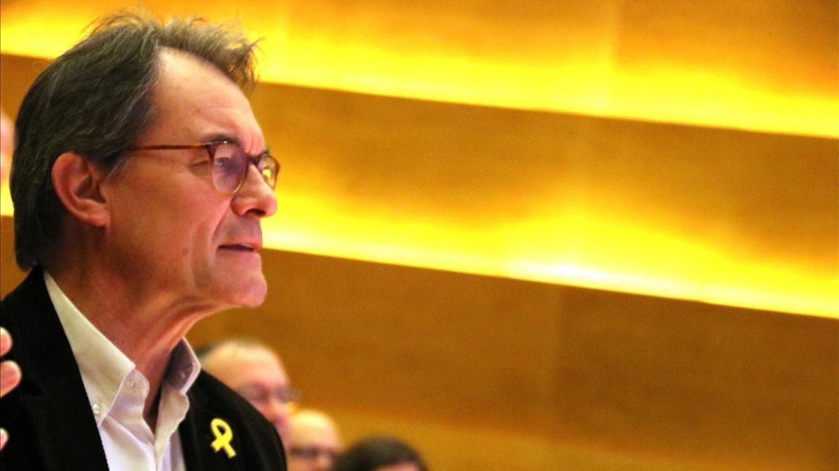 Artur Mas, en el Consell Nacional del PdeCAT.