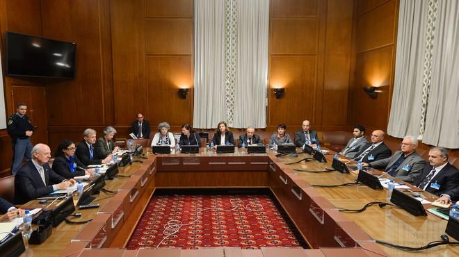 Reunión de la ONU con los representantes de la oposición siria en Ginebra.
