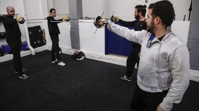 Duelos de espada en la Vila Olímpica