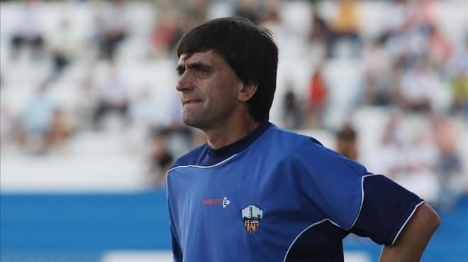 Emili Vicente, durante su etapa al frente del Lleida.