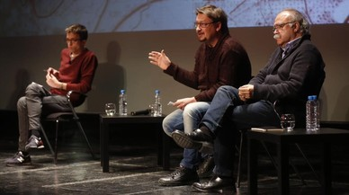Errejón, Carod-Rovira y Domènech, un tripartito por el referéndum