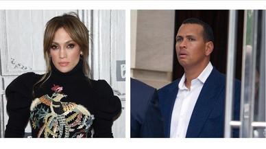 Jennifer Lopez y su nuevo amor, Álex Rodríguez, exbeibolista de los Yankees.