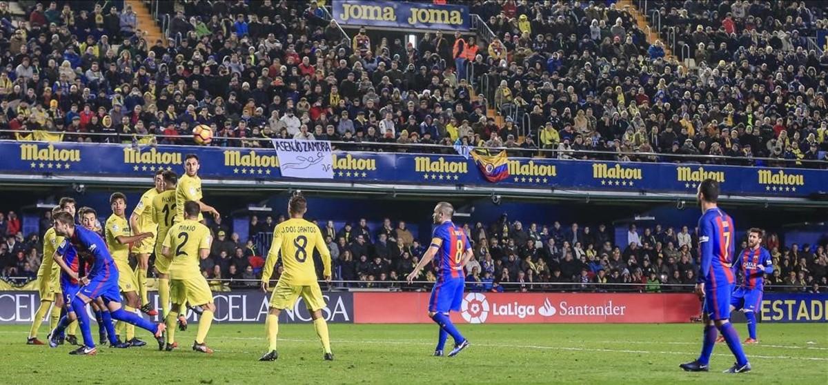Un punt d'impotència del Barça davant el Vila-real