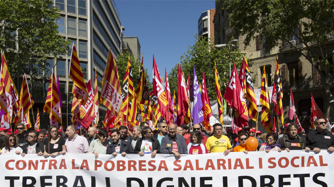 CCOO y UGT movilizan a los trabajadores ante el 26-J y una posible huelga general