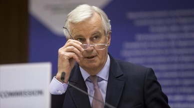 Michel Barnier, en su comparecencia ante el Comité de las Regiones, en Bruselas