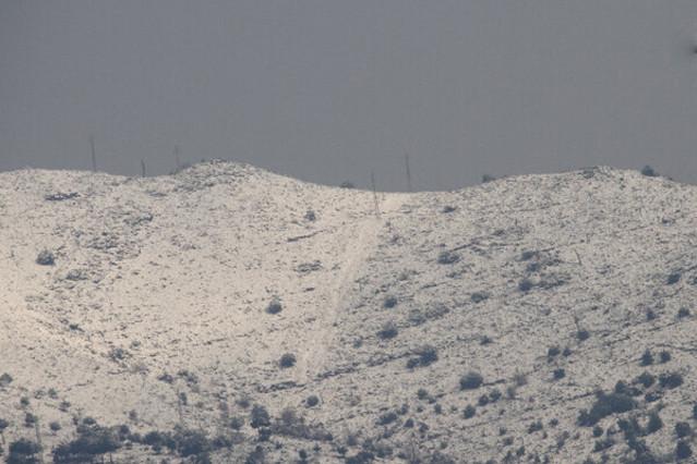 La nieve en la parte alta de Badalona