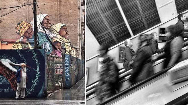 Escenas urbanas con poesía