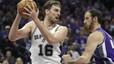 Los Spurs de Pau Gasol vencen a unos Kings duros de roer
