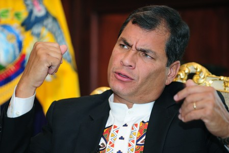 El presidente de Ecuador, Rafael Correa, uno de los dirigentes que ha pedido la reuni�n de Unasur.