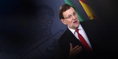 Rajoy, en una rueda de prensa en la Moncloa.
