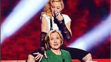 Madonna imita Katy Perry i es despulla per demanar el vot de Hillary