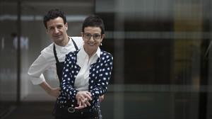 El chef Raül Balam y su madre, la también cocinera Carme Ruscalleda.