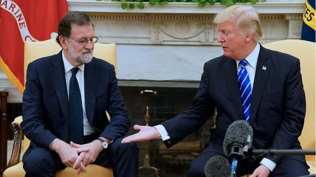"""Trump aposta davant Rajoy perquè Espanya """"segueixi unida"""""""