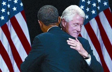 Obama y Clinton, en un acto de recaudacin de fondos en Nueva York.