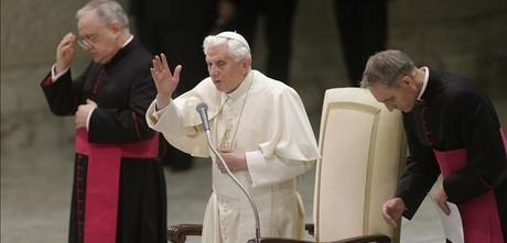 El Papa durante una audiencia en el Vaticano, este lunes.