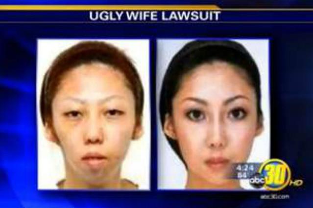 La esposa de Jian Feng, antes y después, de someterse a cirugía estética. IRISH TIMES