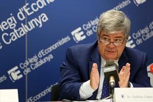 Gullem López-Casasnovas en un debate en el Col·legi dEconomistes sobre bienestar.